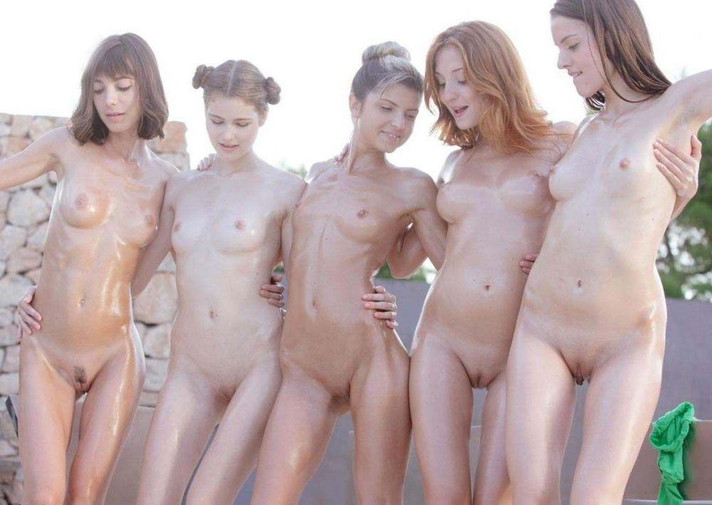 Фото много голых писек
